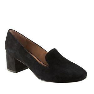 Banana Republic Black Smoking Slipper Pumps